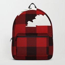 Kentucky is Home - Buffalo Check Plaid Backpack