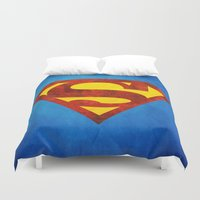 superman Duvet Covers featuring Superman by S.Levis