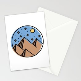 Desert Moon Stationery Cards