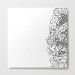 Sleeve white Metal Print