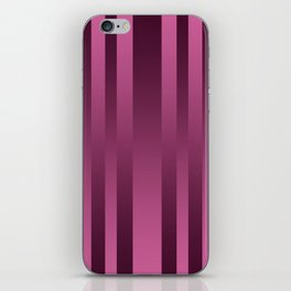 Burgundy , striped iPhone Skin