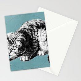 orbital cat Stationery Cards