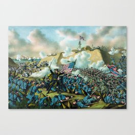 The Capture of Fort Fisher - Civil War Canvas Print