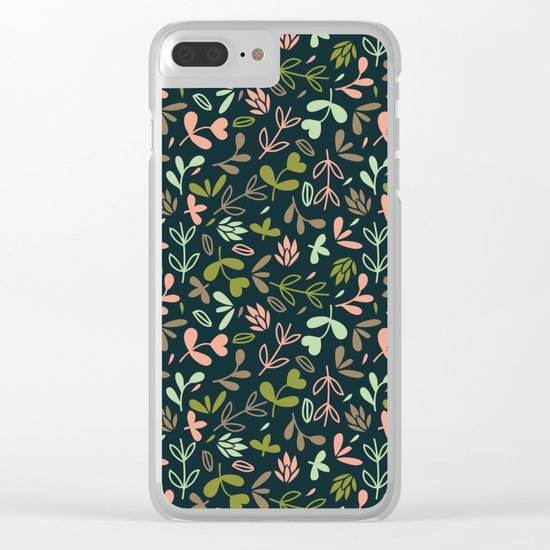 Colorful Lovely Pattern XVIV Clear iPhone Case