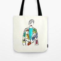 comic Tote Bags featuring Comic by Fatima khayyat