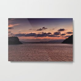 sunset in gumusluk Metal Print