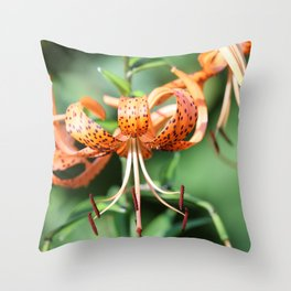 Spotted Summer Lilies Throw Pillow