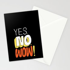 Yes. No. Wow! Stationery Cards