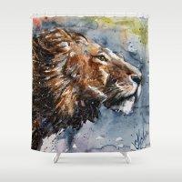 leon Shower Curtains featuring Leon by KOSTART