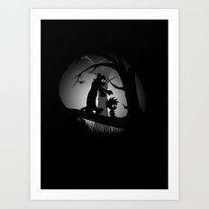 A Wrong Turn Art Print