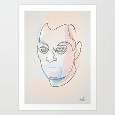 One line Paul Auster Art Print