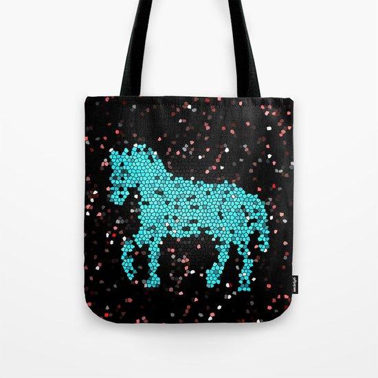 Horse glass Tote Bag