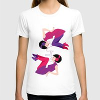 60s T-shirts featuring 60s Zodiac Gals: Gemini by Skart87