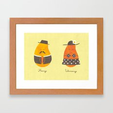 Fruit Genders Framed Art Print