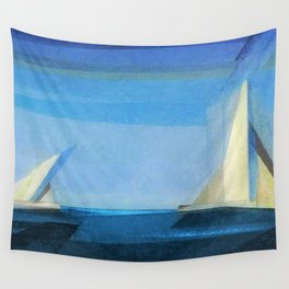Marine Two nautical landscape painting by by Lyonel Feininger Wall Tapestry