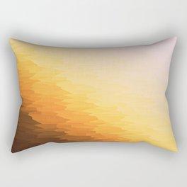 Peach Beige Goldenrod Texture Ombre Rectangular Pillow