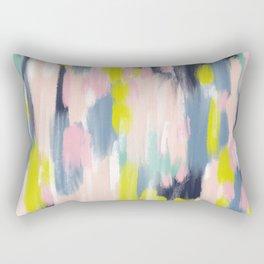 Abstract Brush Stroke Art in Modern Color Palette Rectangular Pillow