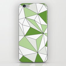 Geo - gray, green and white. iPhone & iPod Skin