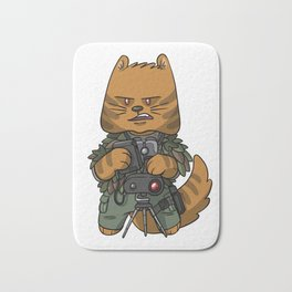 Spotter sniper tactical cat lover gift ideas Bath Mat