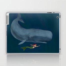 The Mermaid and Whale  Laptop & iPad Skin