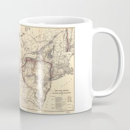 New York Central & Hudson River Railroad Map (1900) Coffee Mug