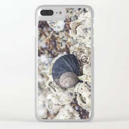 periwinkle close up Clear iPhone Case