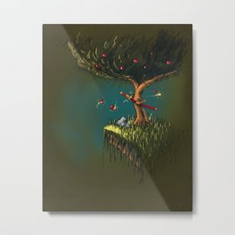 Apple Ninja Metal Print