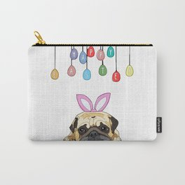 Happy Easter - Pug Bunny Carry-All Pouch