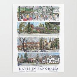 Davis Panorama Poster: Around Central Park Poster