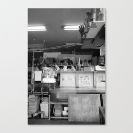 Seafood Store Canvas Print