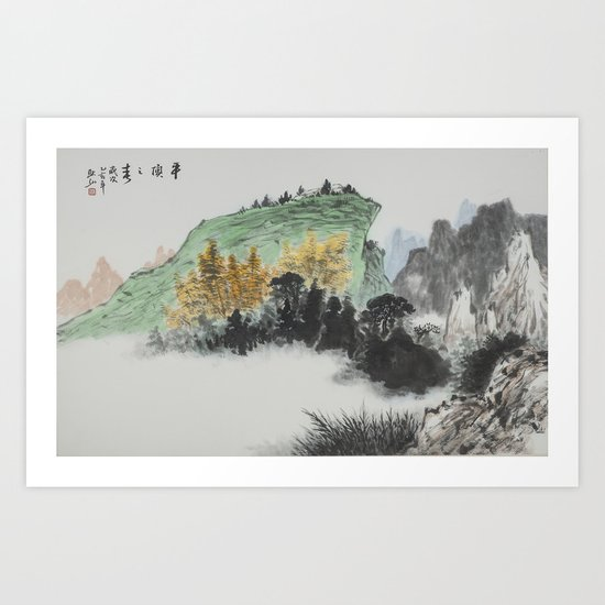 Spring of Pin-Din Art Print