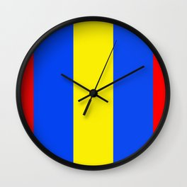 Primary Colors Wall Clock