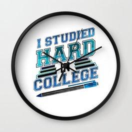 College Graduate Studied Hard in College Graduation Wall Clock