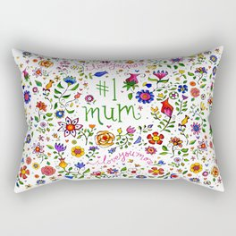 #1 mum, i love you more ... Rectangular Pillow
