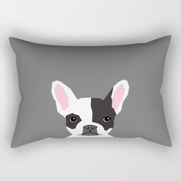 Parker - French Bulldog animal art modern colors for dog people Rectangular Pillow