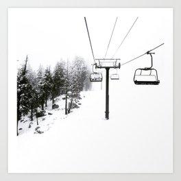 Into the White Art Print
