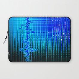 Soundwave Blue Laptop Sleeve