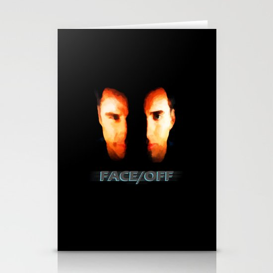 Face Off - Portrait Painting Style Stationery Cards