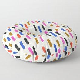 Modern Paint Strokes Floor Pillow