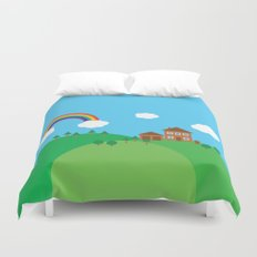 We Love This Place Duvet Cover