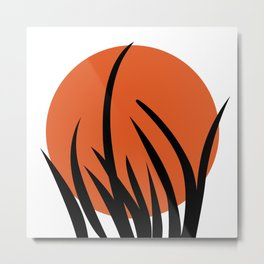 The sun and the grass Metal Print