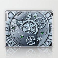 Steampunk clock silver Laptop & iPad Skin
