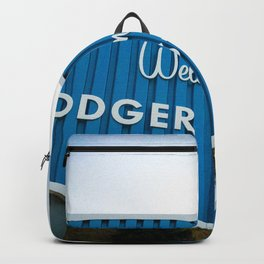 Welcome to Dodger Stadium | Los Angeles California Nostalgic Iconic Sign Art Print Tapestry Backpack