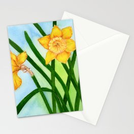 Daffodil Flowers Watercolor Hand-painted Botanical Artwork Stationery Cards