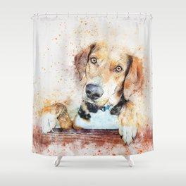 Dog Unhappy Animal Shower Curtain