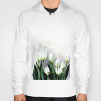 tulips Hoodies featuring Tulips by Bridget Davidson
