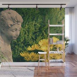 Chrysanthemum Girl Wall Mural