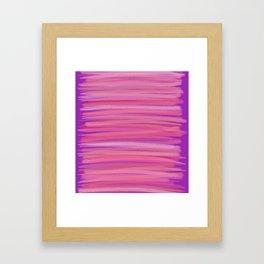 Springtime Blush Pink Striped Abstract Framed Art Print