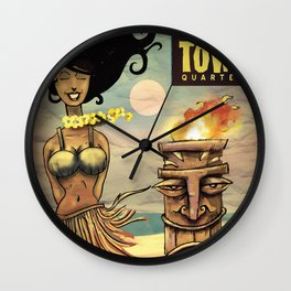 Raven-Haired Beauties Wall Clock