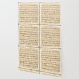 vintage beige music notes Wallpaper